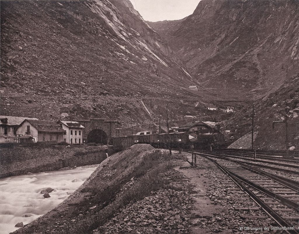 Entry of the Gotthard Tunnel, 1880-1885 (image: ETH Library image archive)