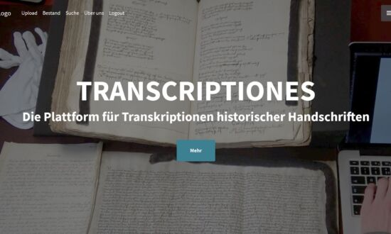 Transcriptiones - platform for transcriptions of non-digitized manuscripts